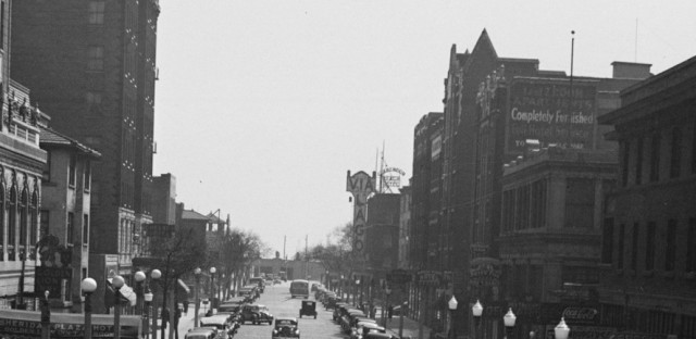 Uptown's Chelsea Hotel, on the left, opened in 1923 and required its first residents to rent rooms on a monthly basis to ensure no 'transients' stayed in the building.