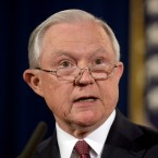 Attorney General Jeff Sessions speaks at the Justice Department in Washington.