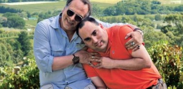 Buzz Bissinger and his son Zach on their cross-country journey.
