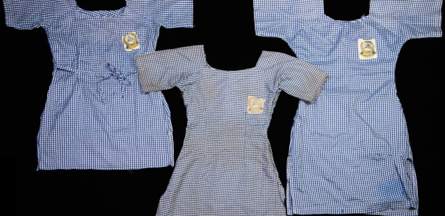 Photographer Glenna Gordon has documented what the Chibok girls left behind, including their school uniforms. One was likely made in a hurry, with messy stitching and different color threads. Another one was well-made but utilitarian – probably stitched by the girl's mother. Another dress was dirty and threadbare.