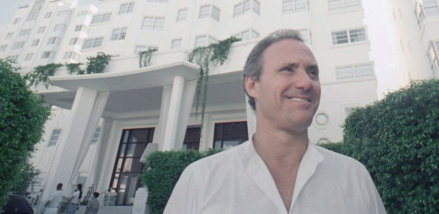 Ian Schrager in front of his new, luxurious Hotel Delano in Miami Beach, Florida on Sept. 13, 1995.