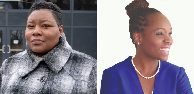 Jeanette B. Taylor (left) and Nicole J. Johnson (right) will face each other in a final runoff election on April 2.