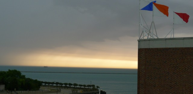 A quick thunderstorm for you Chicago...why am I on the roof of Navy Pier with ominous clouds?
