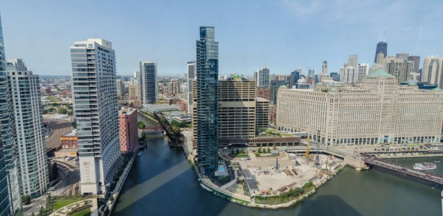 The view from 150 N. Riverside, one of the buildings that will be open to the public during this year's Open House Chicago.