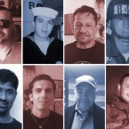 A compilation of faces of veterans who have been deported by the U.S.
