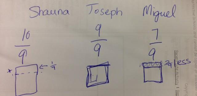 WBEZ's Becky Vevea does Common Core math with teacher Gina Biondi of CICS-West Belden