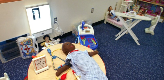 A playroom is seen at the University of Chicago's Comer Children's Hospital in 2005. A new $9.1 million gift to the hospital system will be used to help children who suffer from trauma.